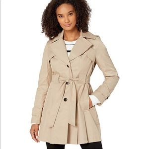 Via Spiga | Single Breasted Hooded Trench Coat